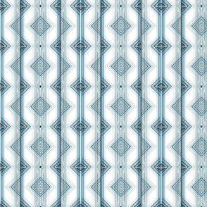 Blue and Teal Zig Zag Stripes Pattern