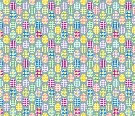 Painted eggs fabric by alexsan on Spoonflower - custom fabric