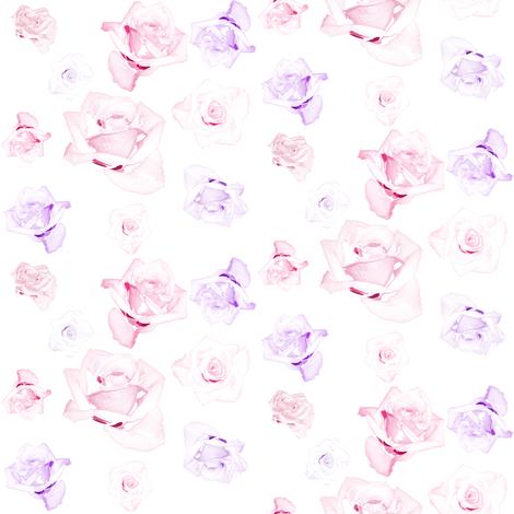 Sweet Roses - © PinkSodaPop 4ComputerHeaven.com fabric by pinksodapop on Spoonflower - custom fabric