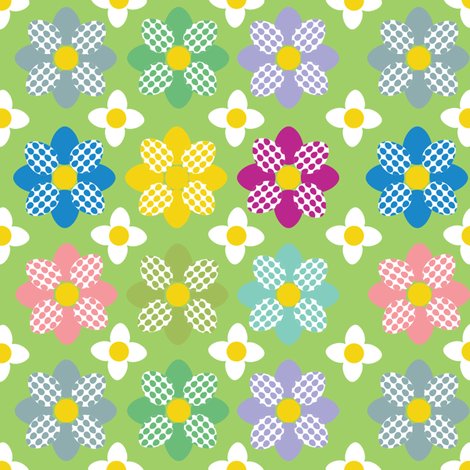 Egg flowers fabric by alexsan on Spoonflower - custom fabric