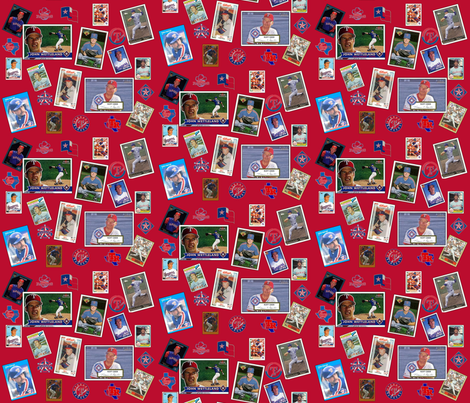 Texas Rangers Greats fabric by skobby on Spoonflower - custom fabric