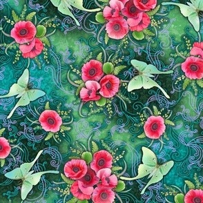 Poppies_and_Luna_Moths