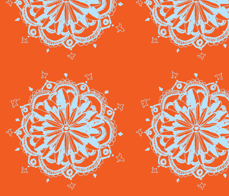 Third Flower Orange fabric by artthatmoves on Spoonflower - custom fabric