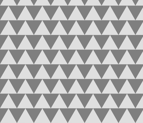 Grey Triangles fabric by eclecticlauren on Spoonflower - custom fabric