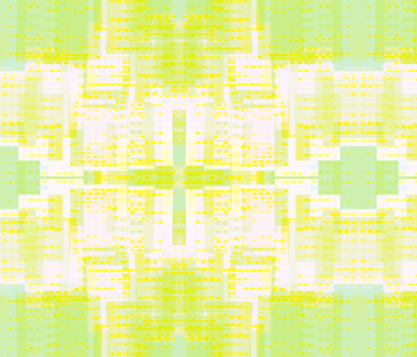 In The City-Lemon & Lime *large* fabric by powellingaround on Spoonflower - custom fabric