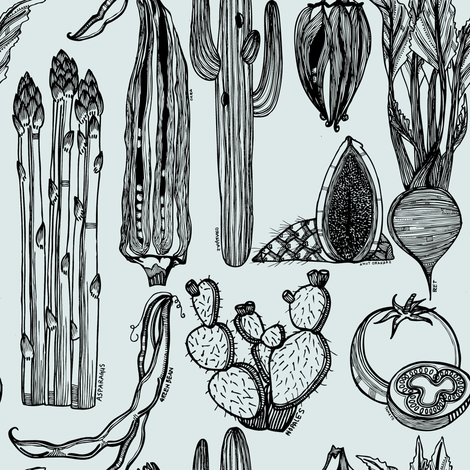 native_and_farmed_foods fabric by kat_v_l_wright on Spoonflower - custom fabric