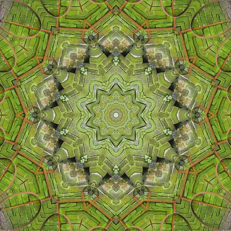 Irish Moss Covered Mandala fabric by dovetail_designs on Spoonflower - custom fabric