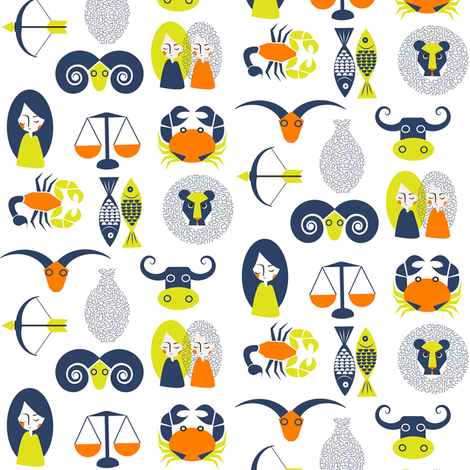 Astrology fabric by theboutiquestudio on Spoonflower - custom fabric