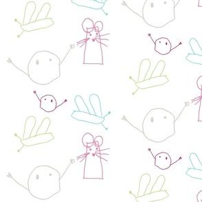 bubu and friends pink