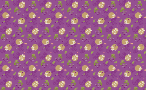 Hedgehogs and berries fabric by macywong on Spoonflower - custom fabric