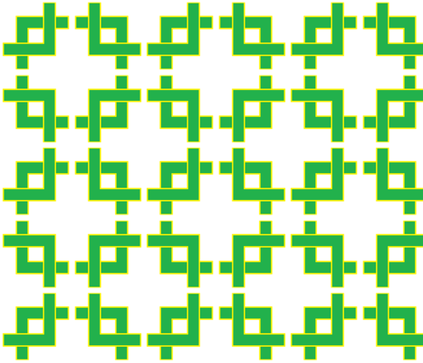 yellow__green_geometric_200 fabric by hollydavidson on Spoonflower - custom fabric