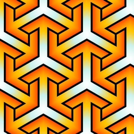 multi-dimensional arrow fabric by sef on Spoonflower - custom fabric