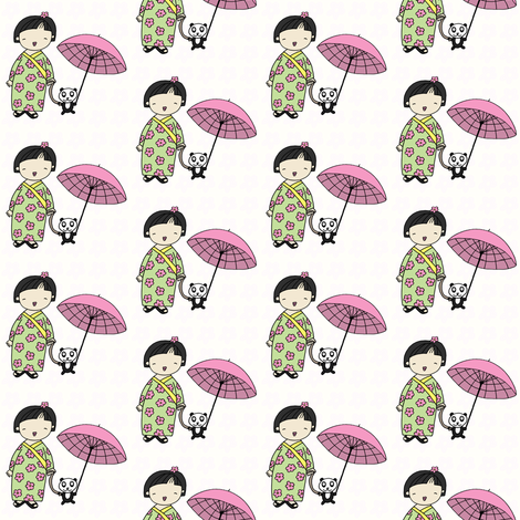 'Ordinary Girl' Sumiko + Tomoko fabric by pattyryboltdesigns on Spoonflower - custom fabric