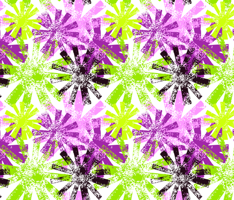 Starburst - large - summer multi fabric by cameronhomemade on Spoonflower - custom fabric