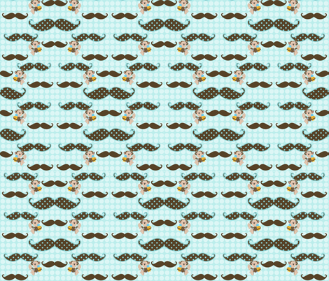 Mustaches and Monkeys fabric by sweetmonkeytots on Spoonflower - custom fabric
