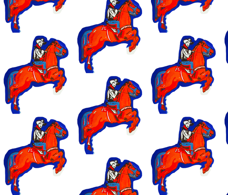 Rootin Tootin Fun - Red, White, and Blue fabric by bettieblue_designs on Spoonflower - custom fabric