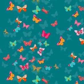 Butterfly Effect in teal