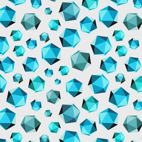 Geometric Shape #003 - Teals fabric by jesseesuem on Spoonflower - custom fabric