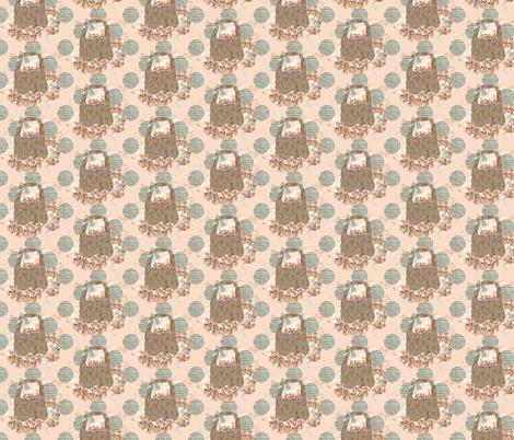 A Peach Baskey fabric by karenharveycox on Spoonflower - custom fabric