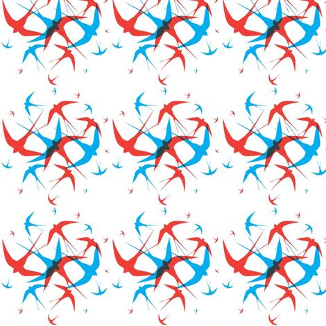Circle of birds fabric by mezzime on Spoonflower - custom fabric