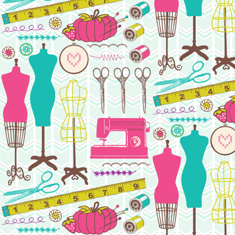 Sewing notions & more fabric by allisonkreftdesigns on Spoonflower - custom fabric