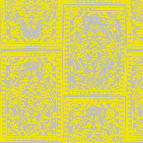 Diamond Block Print  fabric by marcador on Spoonflower - custom fabric