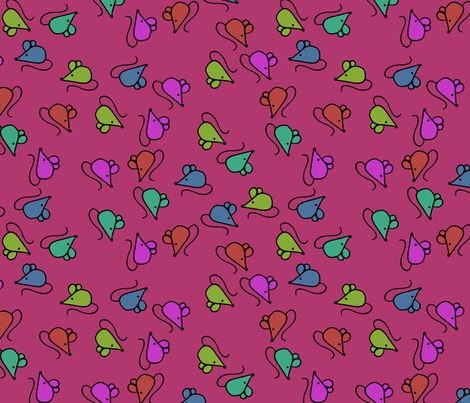 z1 - Mouses Purple fabric by henriyoki on Spoonflower - custom fabric