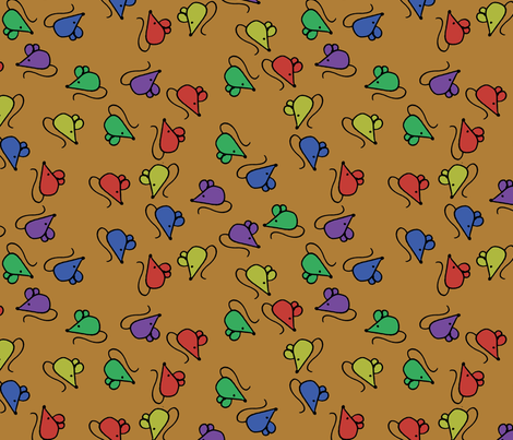 z1 - Mouses Brown fabric by henriyoki on Spoonflower - custom fabric