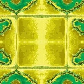 Art Nouveau39-green/yellow