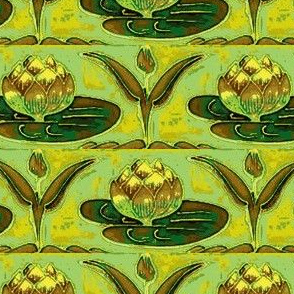 Art Nouveau36-green/yellow