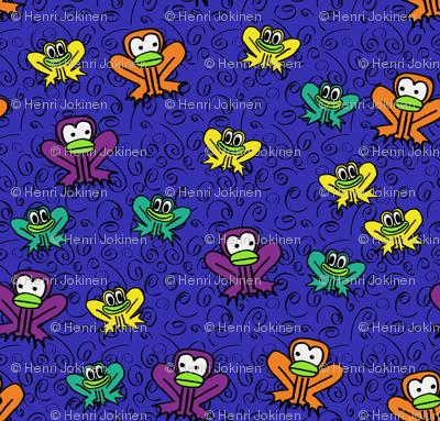 z3 - Frogs in Dark Blue