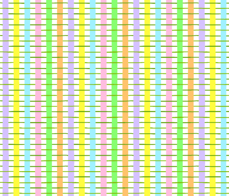 ribbon weave - painted egg coordinate fabric by victorialasher on Spoonflower - custom fabric