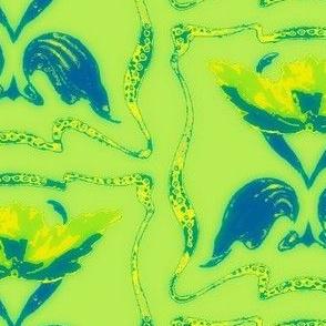 Art Nouveau34-green/blue