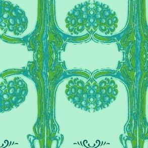 Art Nouveau35-teal/green