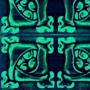 Art Nouveau33-blue/aqua