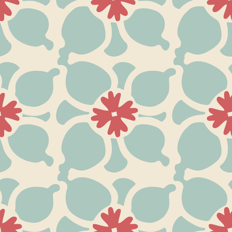 Flower Combo Blue fabric by kathyjuriss on Spoonflower - custom fabric