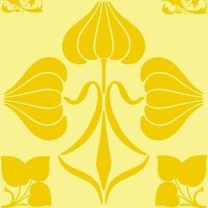 Art Nouveau43-yellow/gold