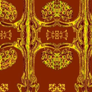 Art Nouveau35-red/yellow