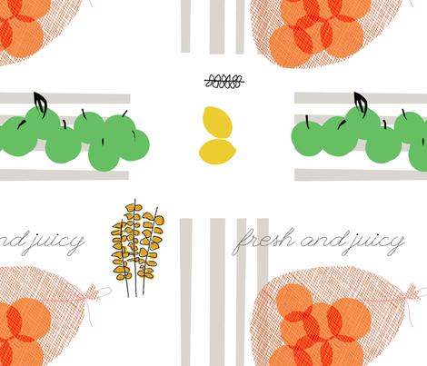 Green Grocer fabric by francescaiannaccone on Spoonflower - custom fabric
