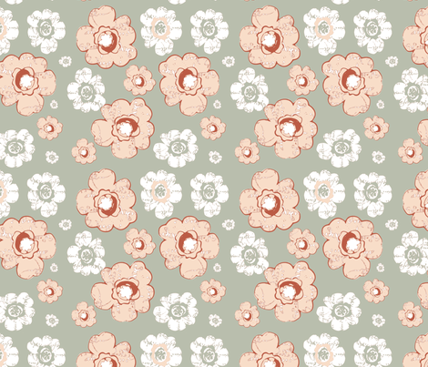 French Country Bouqet fabric by karenharveycox on Spoonflower - custom fabric