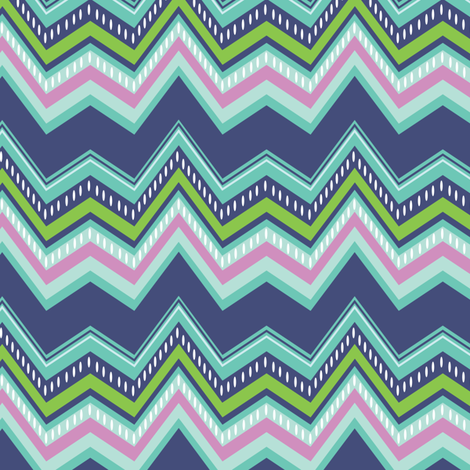 Chevron  fabric by jillbyers on Spoonflower - custom fabric