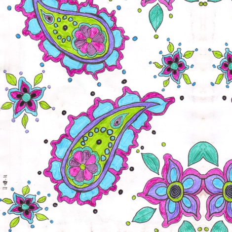 blue Paisley  fabric by asouthernladysdesigns on Spoonflower - custom fabric
