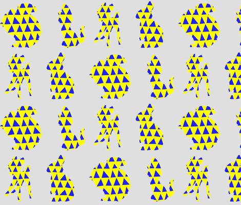 Little animals on grey fabric by juffrouw_sanseveria on Spoonflower - custom fabric