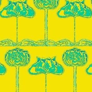 Art Nouveau31-yellow/teal