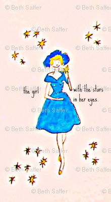 The girl with the stars in her eyes -large