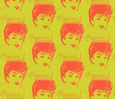 Gigi fabric by bettieblue_designs on Spoonflower - custom fabric