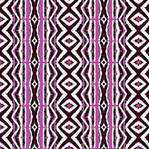 Purple diamonds and pink stripes 4