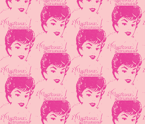 Pink Gigi fabric by bettieblue_designs on Spoonflower - custom fabric