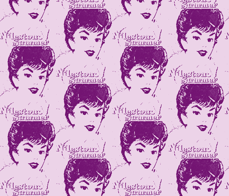 Lavender Gigi fabric by bettieblue_designs on Spoonflower - custom fabric
