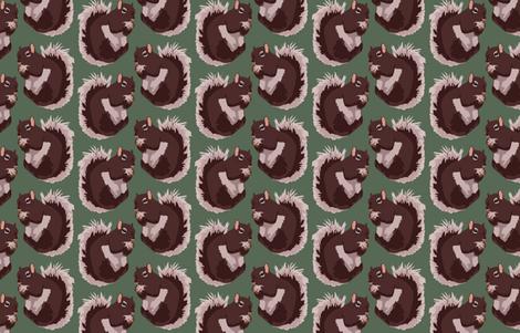 Squirrel fabric by pond_ripple on Spoonflower - custom fabric